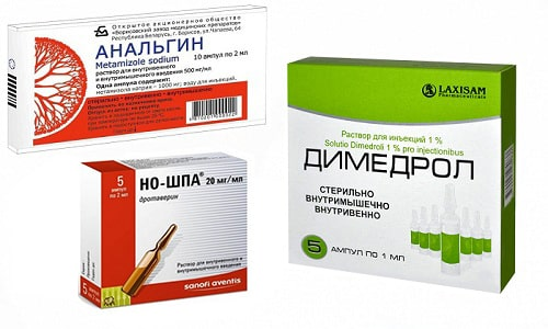 Анальгин, Димедрол и Но-шпа часто используются для быстрого купирования лихорадочного синдрома и болевых ощущений