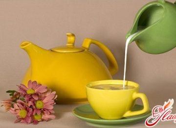 Зелёный чай с молоком для похудения