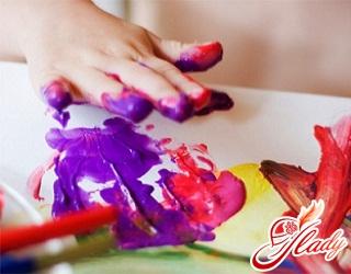 пальчиковые краски для малышей до года