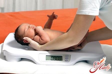 здоровый вес ребенка в период лактации